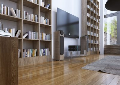 Home library in modern style