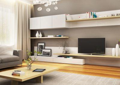 Composition of modern furniture