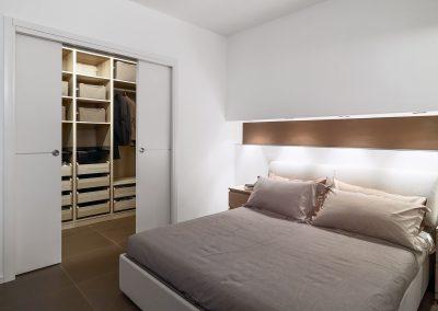 modern bedroom overlooking on the wardrobe